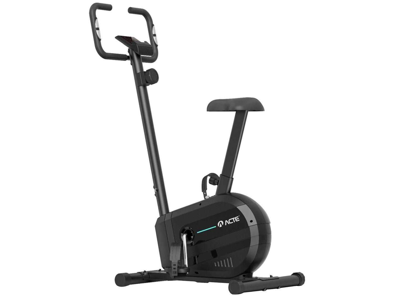 Bicicleta Ergométrica Acte Sports E23 Magnética - 8 Níveis de Esforço 7 Funções