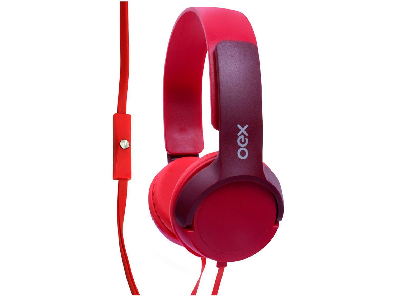 Headphone Infantil OEX Kids HP303 Teen - com Microfone Vermelho