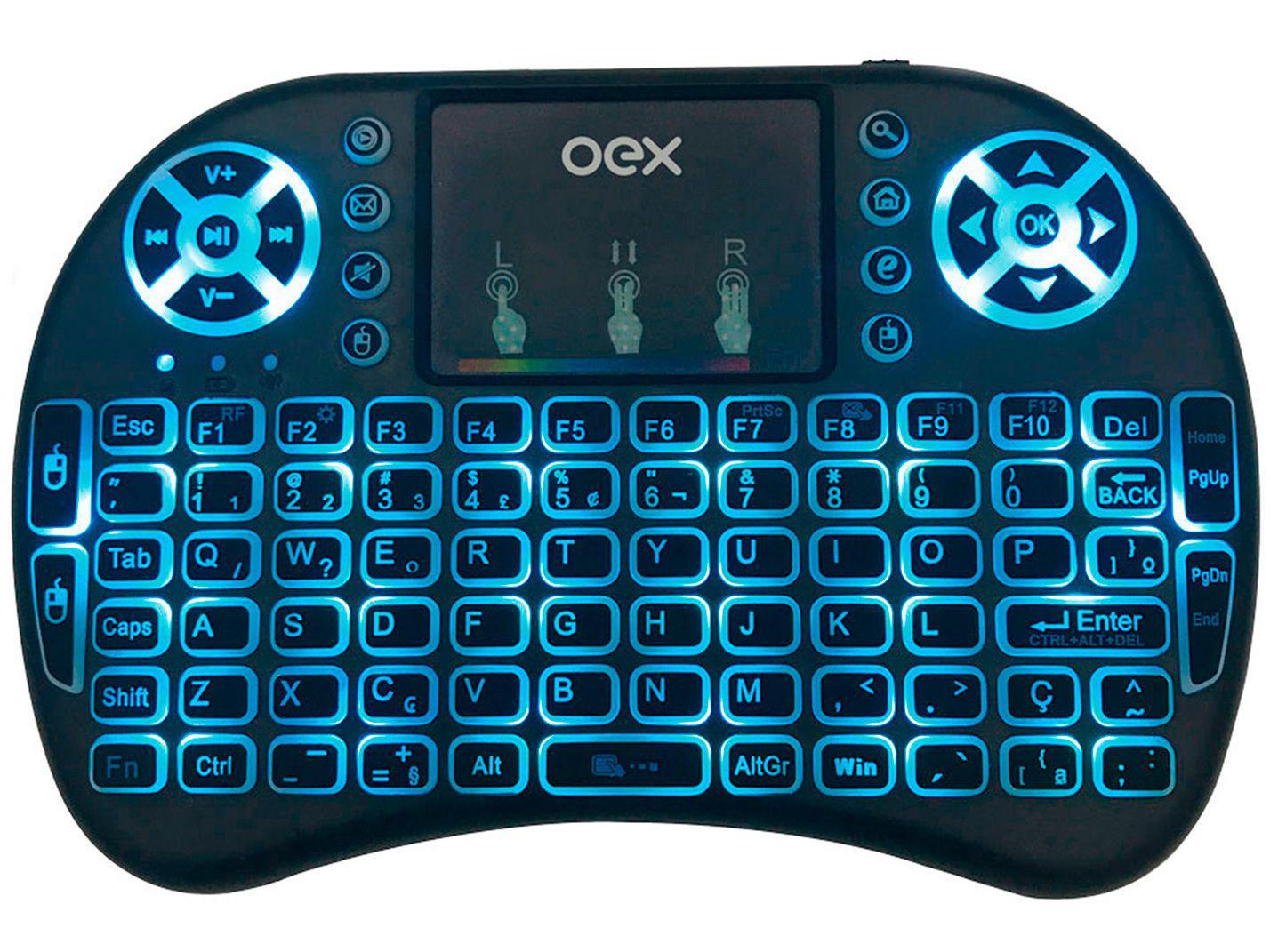 Teclado Mini sem Fio OEX - ABNT2 Preto CK103