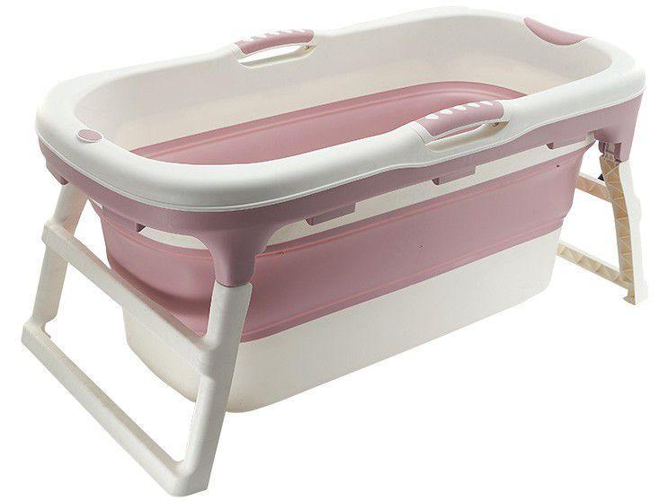 Banheira de Bebê Baby Pil com Suporte Dobrável - Grande 110L