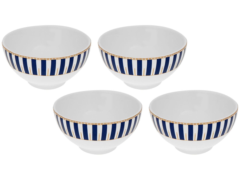 Conjunto de Bowls de Cerâmica Scalla Colorido - 500ml Concept Art Decor 4 Peças