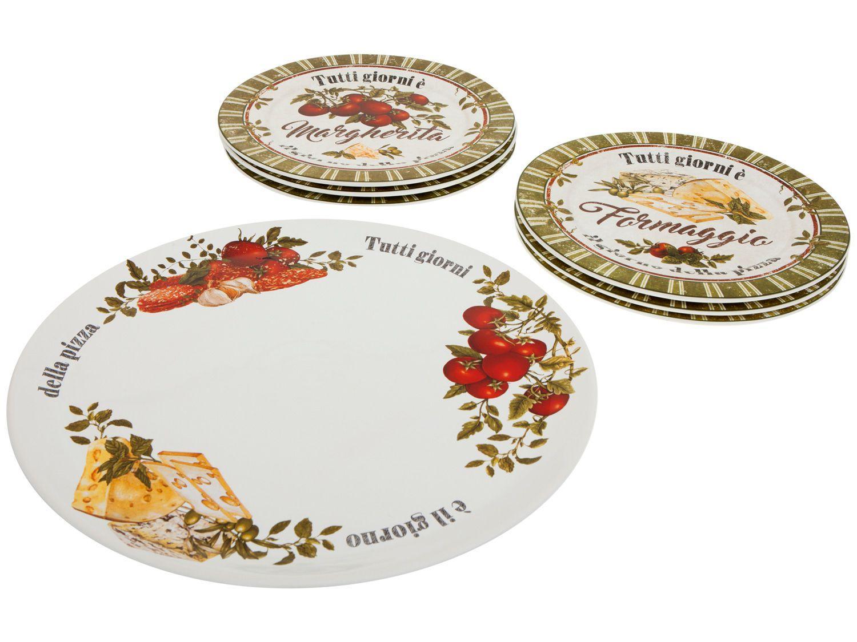 Conjunto para Pizza Cerâmica Scalla 1841945 - 7 Peças