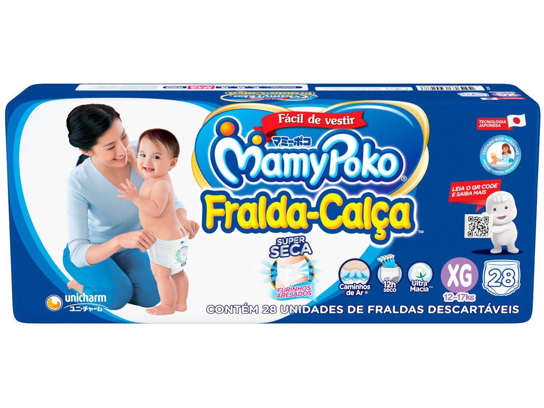 Fralda Calça MamyPoko Jumbo Tam. XG - 12 a 17kg 28 Unidades