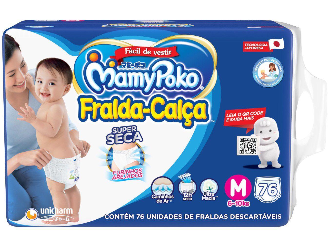Fralda Calça MamyPoko Super Tam. M - 6 a 10kg 76 Unidades