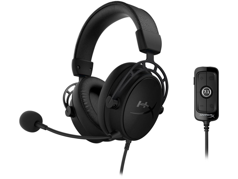 Headset Gamer HyperX PC e Mobile 7.1 USB P2 - Cloud Alpha S Blackout