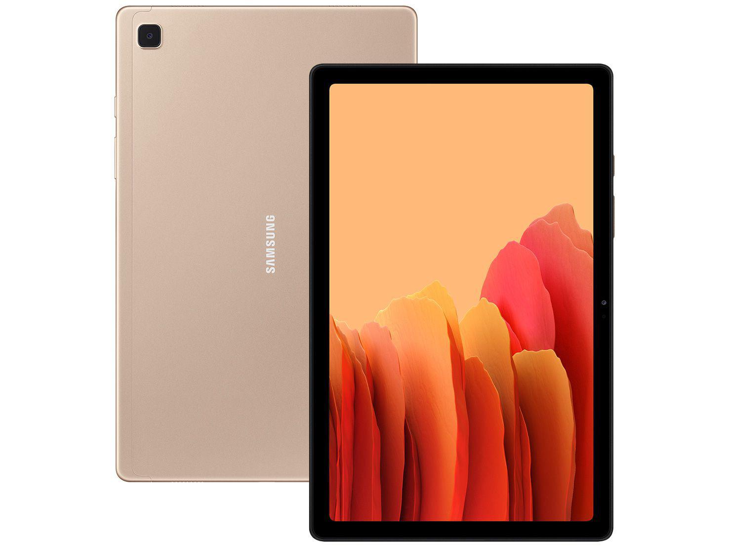 """Tablet Samsung Galaxy Tab A7 10,4"""" 4G Wi-Fi 64GB - Android Octa-Core Câm. 8MP + Selfie 5MP"""
