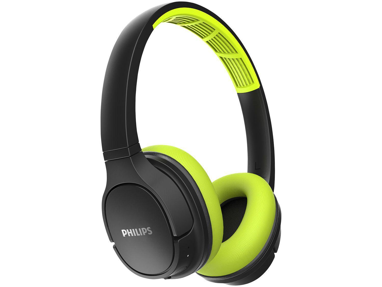 Fone de Ouvido Bluetooth Philips Série 4000 - TASH402LF/00 Esportivo com Microfone Preto e Limão