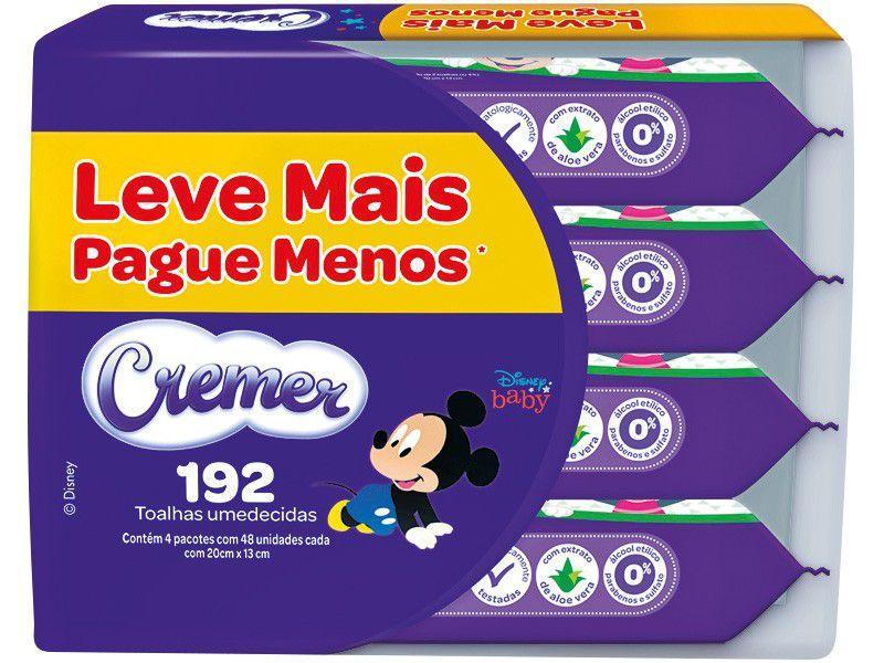 Kit Toalhas Umedecidas Cremer Disney Baby - 4 Unidades