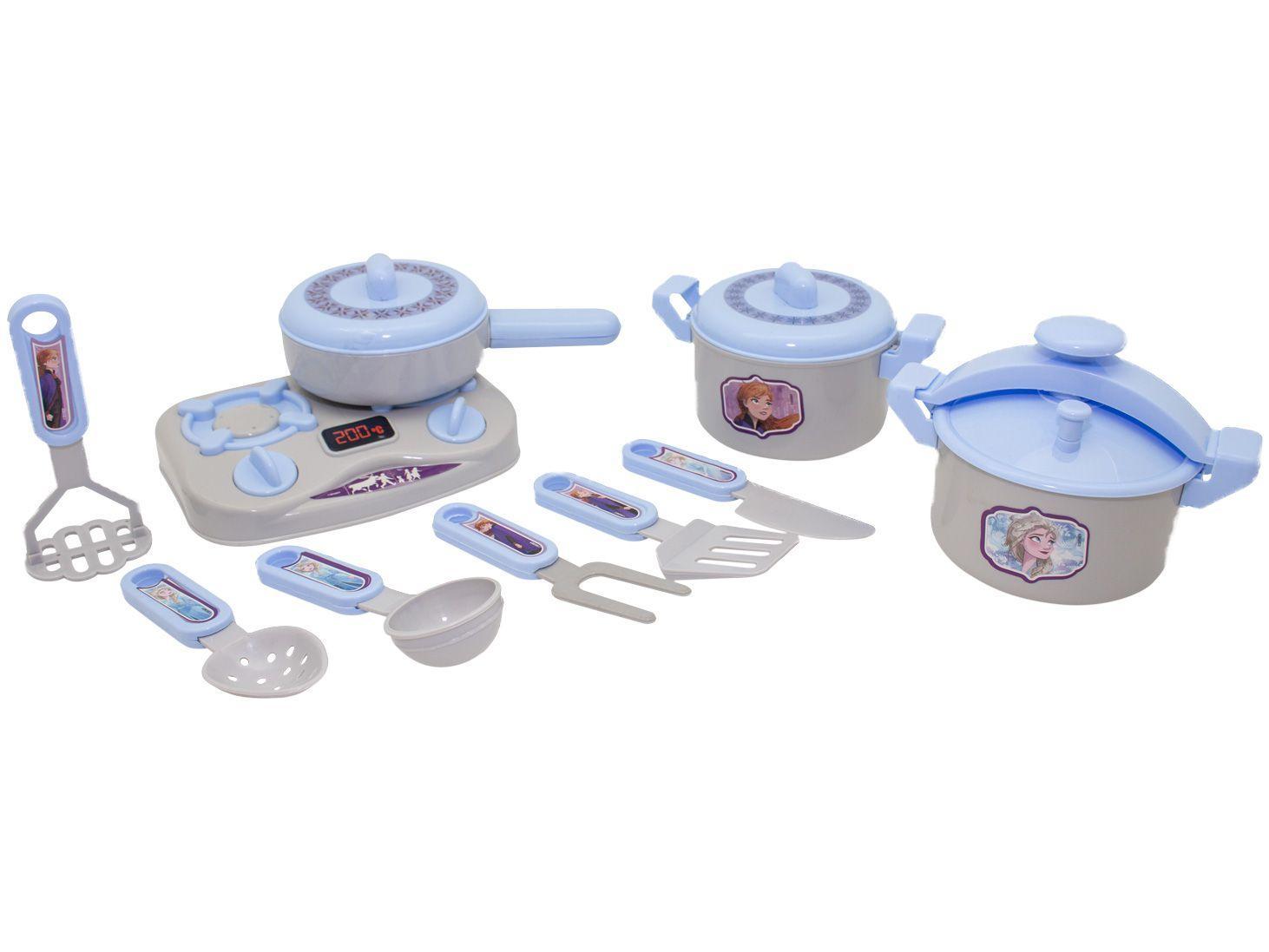 Kit Cozinha Infantil Frozen 2 Jogo de Panelas - Toyng 10 Peças