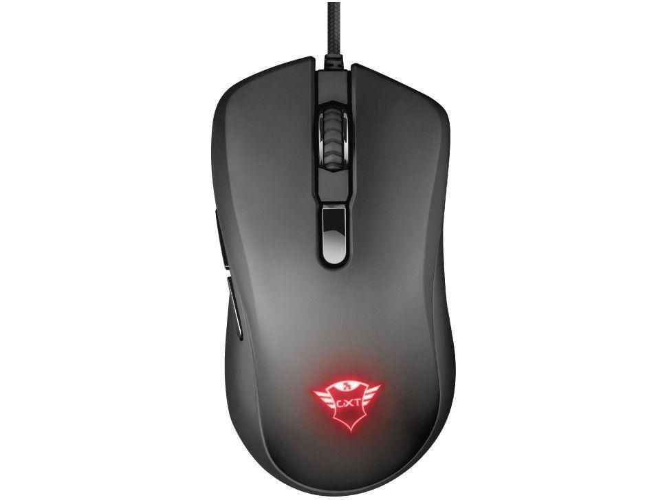 Mouse Gamer RGB Trust Óptico 6400DPI - 6 Botões GXT 930 Jacx