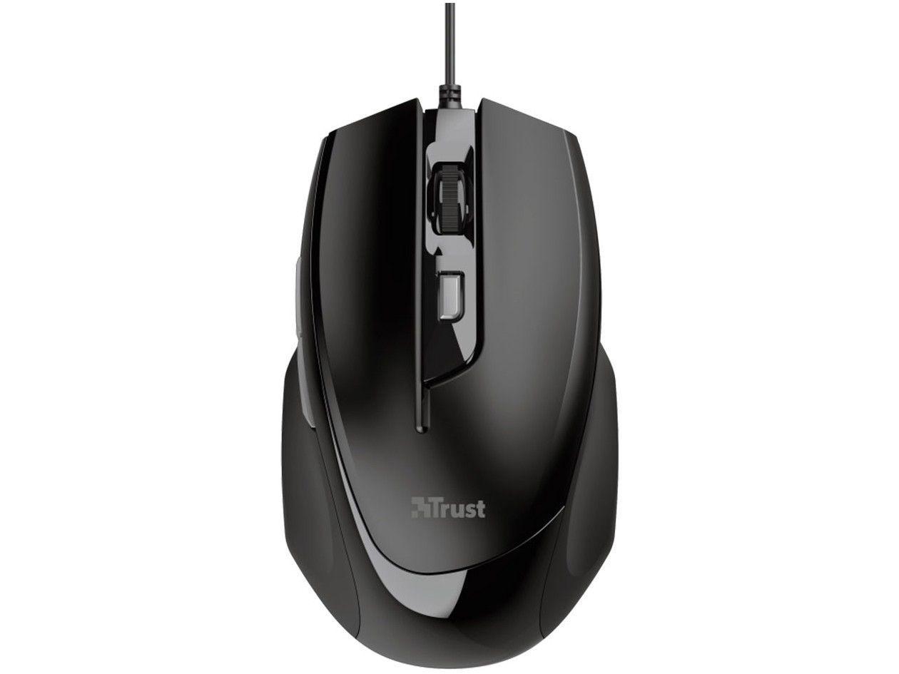 Mouse Trust Óptico 2400DPI 6 Botões - Voca 23650