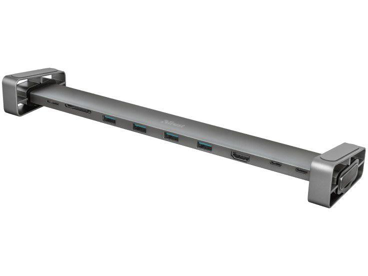 Adaptador USB Multiportas 10 em 1 HDMI - 10cm Trust Dalyx 23417