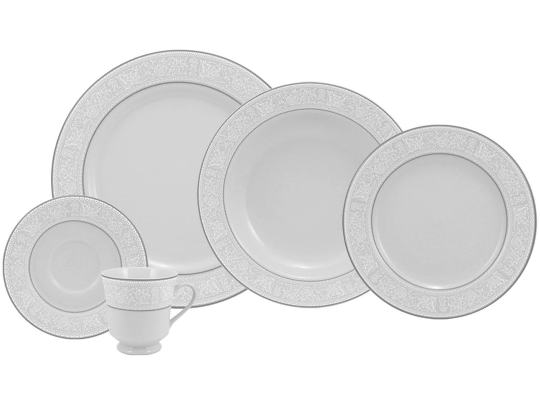 Aparelho de Jantar 20 Peças Schmidt Porcelana - Redondo Branco Martha