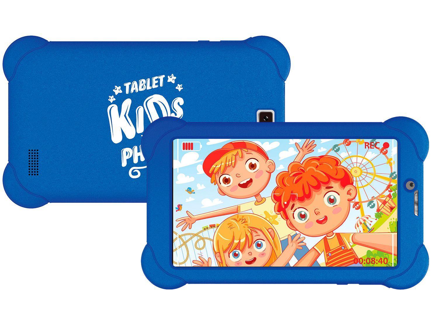 "Tablet Infantil Philco PTB7RSG3G KIDS com Capa 7"" - 3G Wi-Fi 16GB Android 9 Quad-Core Câm. 5MP"