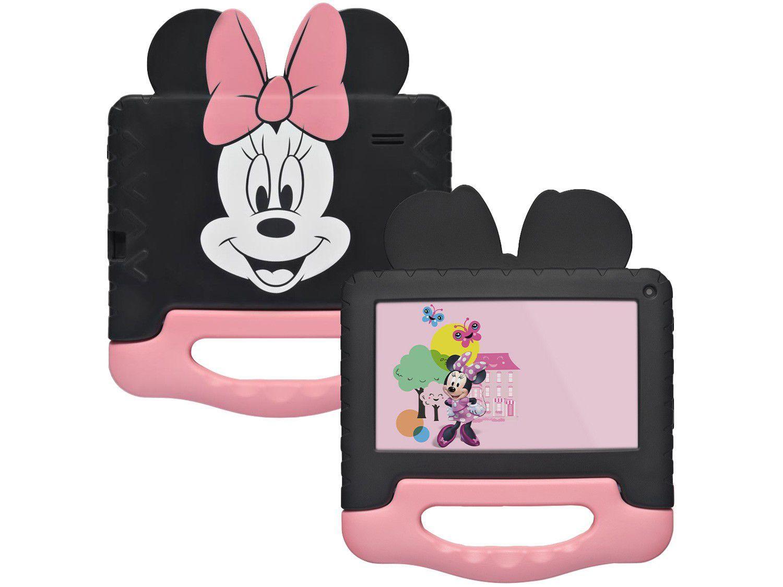 """Tablet Infantil Multilaser Minnie Mouse com Case - 7"""" Wi-Fi Android 8.1 Quad-Core Selfie 1.3MP"""