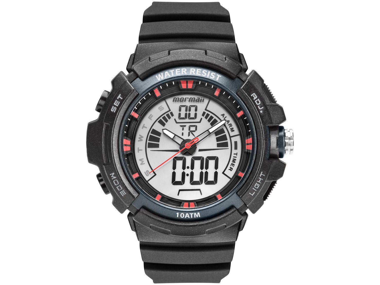 Relógio Masculino Mormaii Anadigi Esportivo - MO8902AA/8R Preto