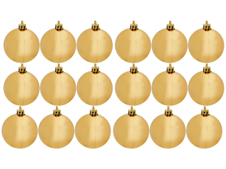 Bola de Natal Dourada Lisa NATAL040B Casambiente - 6cm 18 Unidades