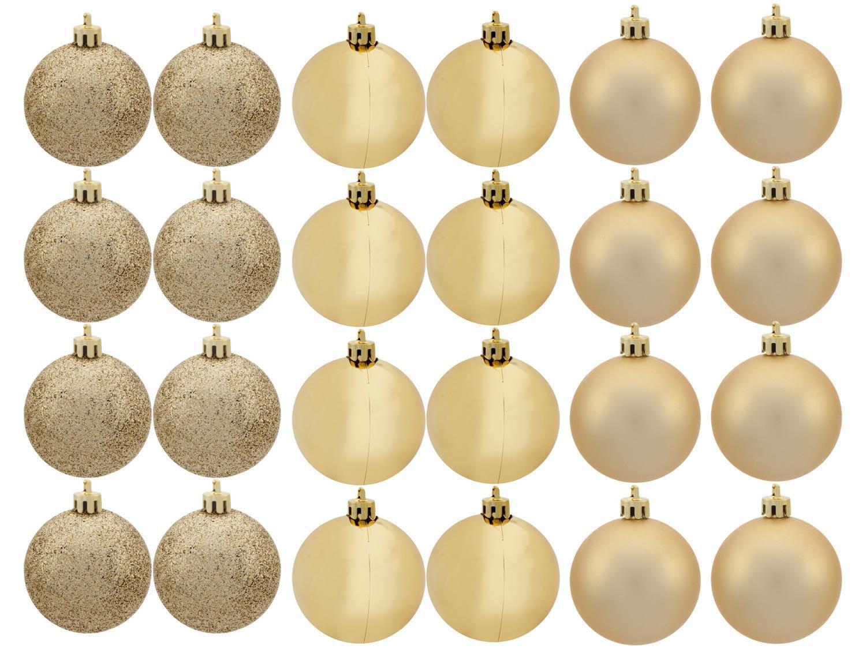 Kit Bola de Natal Dourada NATAL071 Casambiente - 6cm 24 Unidades