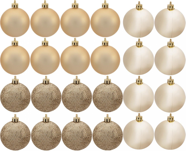 Kit Bola de Natal Champagne NATAL072 - Casambiente 6cm 24 Unidades