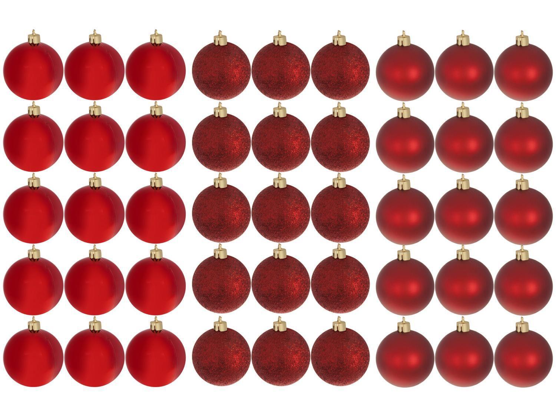 Kit Bola de Natal Vermelha NATAL073 Casambiente - 4,5cm 45 Unidades