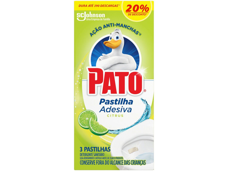 Desodorizador Sanitário Pastilha Adesiva Pato - Citrus 3 Unidades