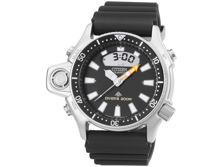 Relógio Masculino Citizen Anadigi Esportivo - Aqualand TZ10137T Preto