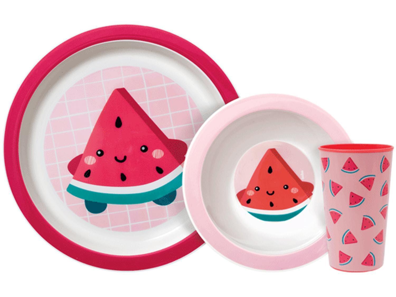 Kit Alimentação Infantil 3 Peças Buba Frutti - Melancia