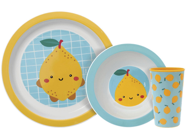 Kit Alimentação Infantil 3 Peças Buba Frutti - Limão