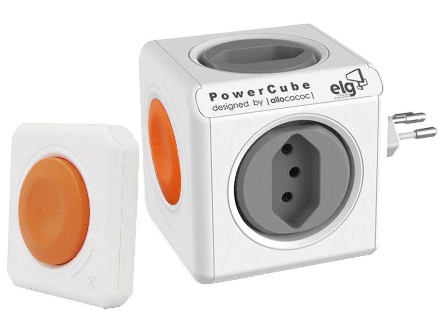 Multiplicador de Tomadas 4 Saídas com Controle - Remoto Bluetooth ELG PowerCube Remote PWC-RM4CR