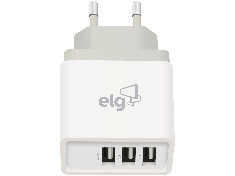Carregador de Parede Carga Rápida Universal - 3 Entradas USB Elg Evolution WC3S