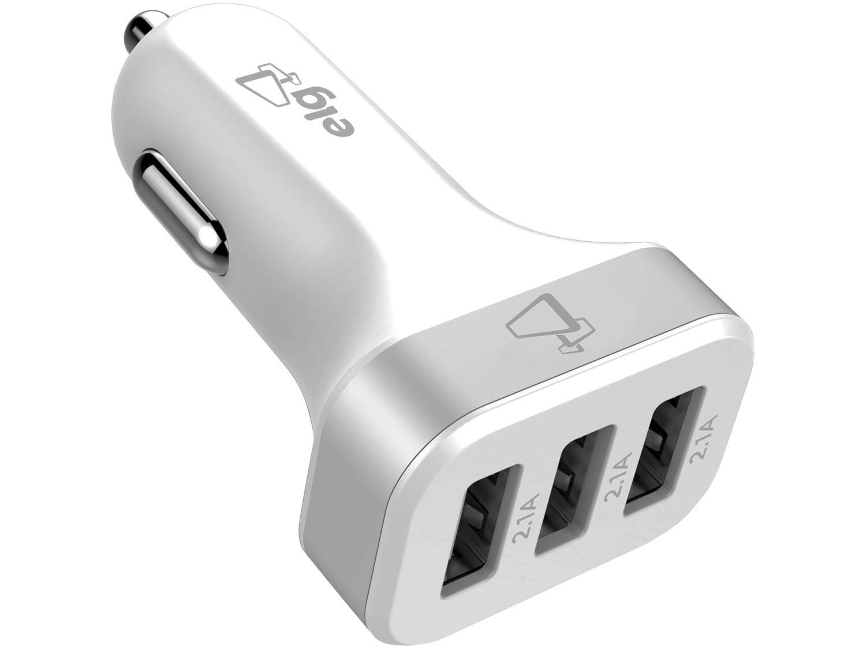 Carregador Veicular Carga Rápida Universal - 3 Entradas USB ELG Evolution CC3S
