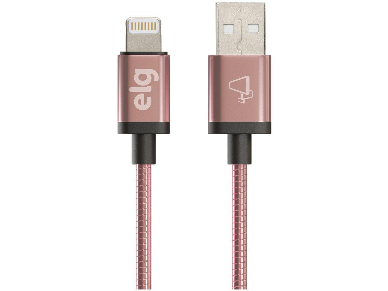 Cabo Lightning USB 1m ELG Inox - INX810RG