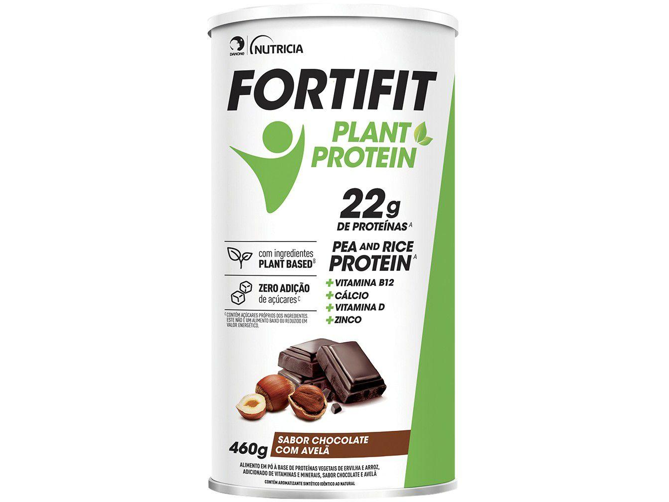Suplemento Alimentar Adulto Fortifit Plant Protein - Chocolate com Avelã Diet 460g