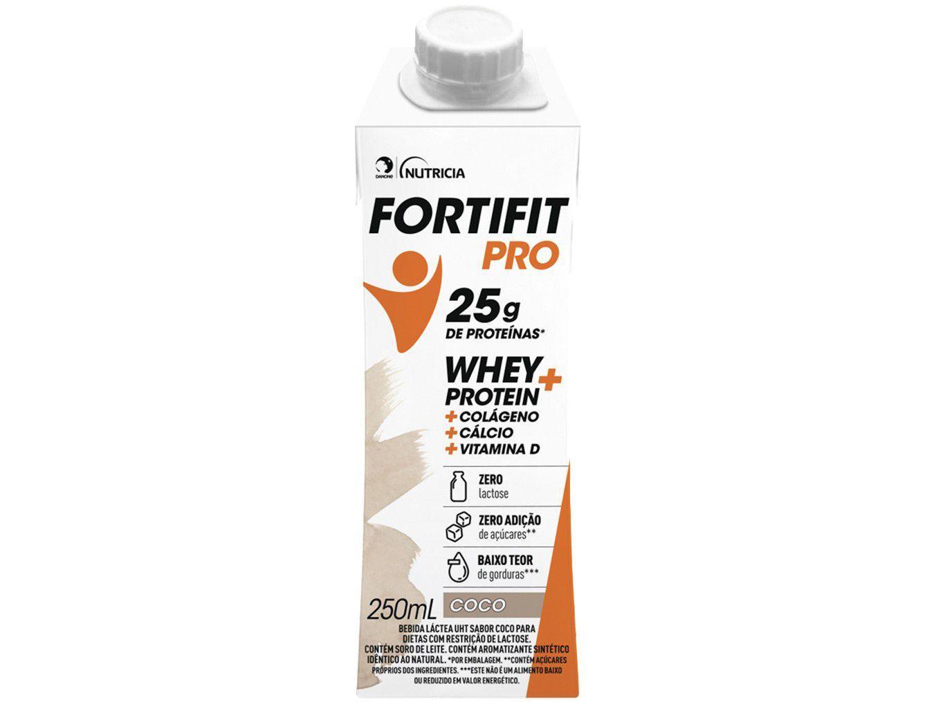 Bebida Láctea Fortifit Pro Coco Zero Açúcar - 250ml