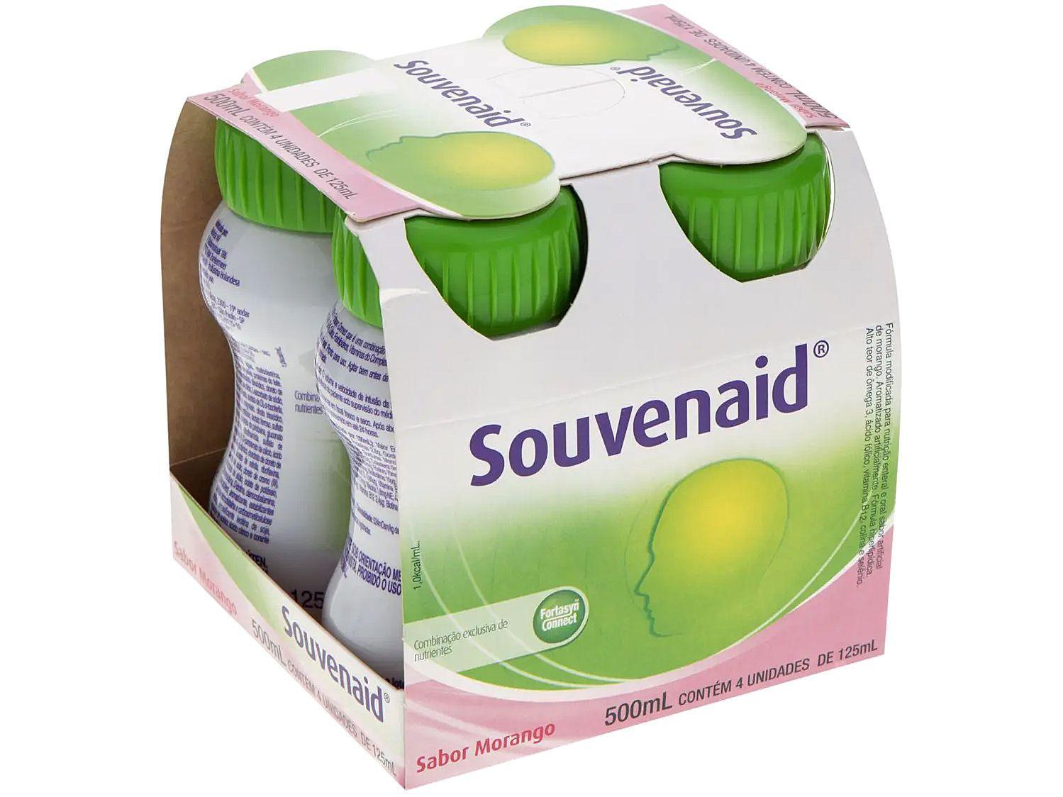 Suplemento Alimentar Adulto Souvenaid Morango - 125ml 4 Unidades