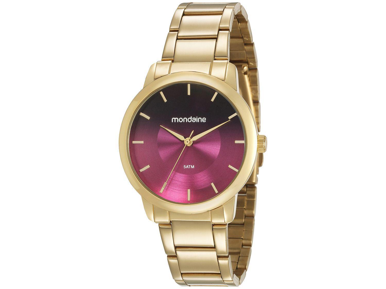 Relógio Feminino Analógico Mondaine - 53606LPMVDE3 Dourado