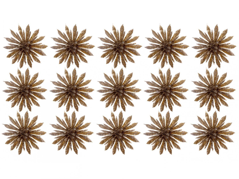 Kit 15 Enfeites para Árvore de Natal Flor - NATAL097M Casambiente