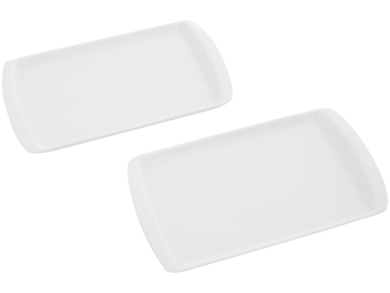 Kit de Bandejas Multiuso Retangular Schmidt - Gastronômica Set 2 Peças