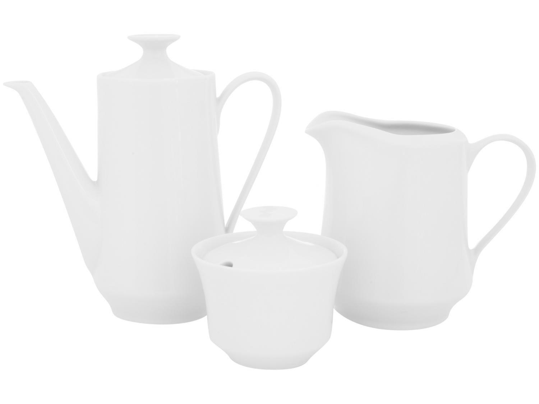 Aparelho de Café de Porcelana Schmidt Branco - 3 Peças