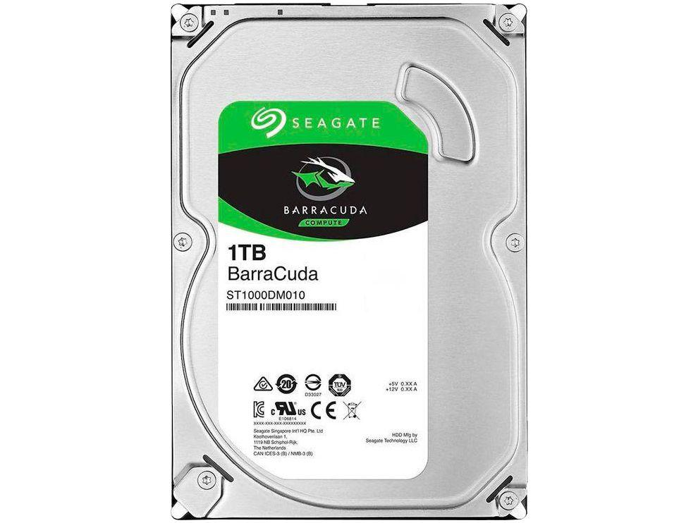 "HD 1TB Seagate BarraCuda SATA 3,5"" - 5400 RPM ST1000DM010"