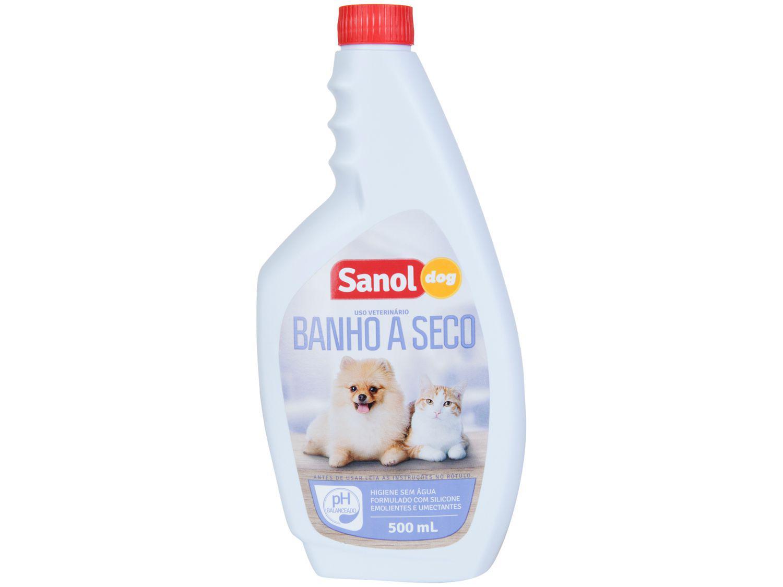 Banho a Seco para Cães e Gatos - Sanol Dog Higiene Sem Água 500ml