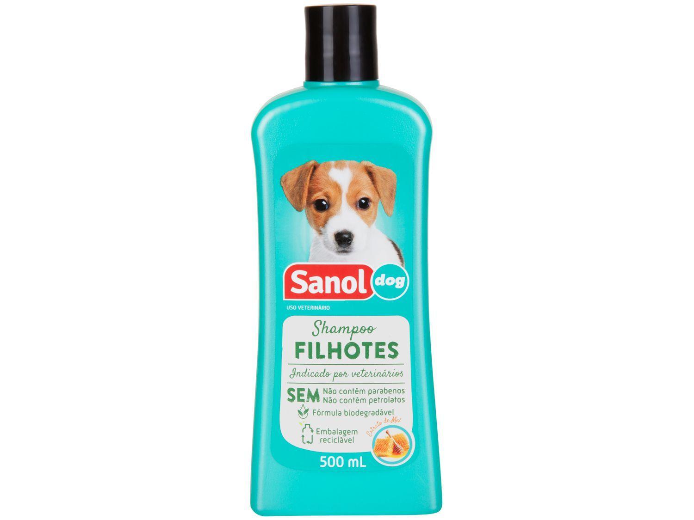 Shampoo Cachorro e Gato Filhotes - Sanol Dog 500ml