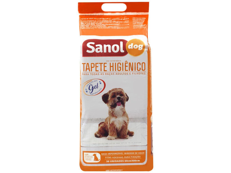 Tapete Higiênico Sanol Dog 80x60cm - 30 Unidades