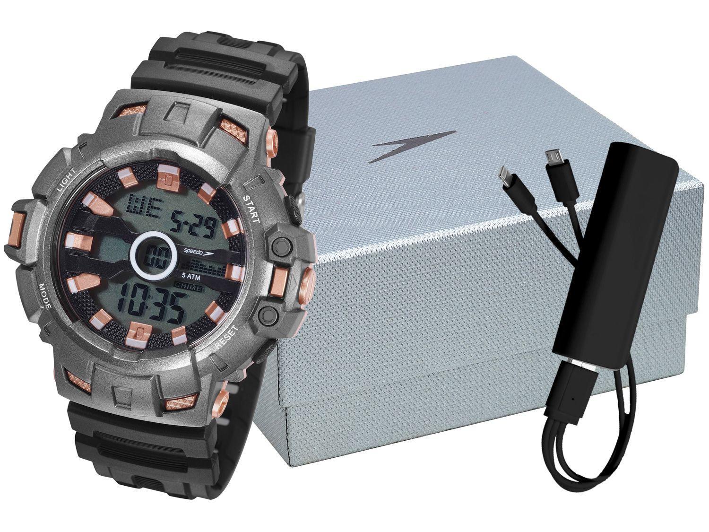 Relógio Masculino Speedo Digital - 81197G0EVNP2K1 Preto com Acessório