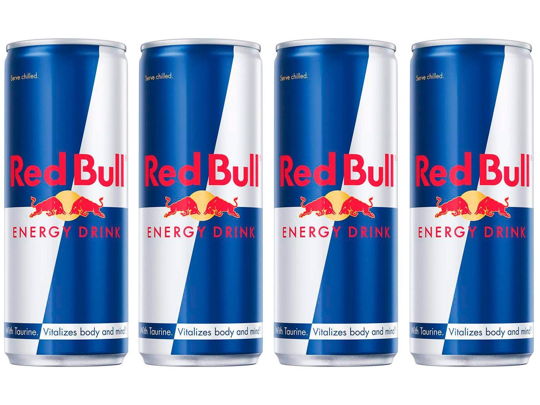 Bebida Energética Red Bull Energy Drink 250ml - 4 Unidades