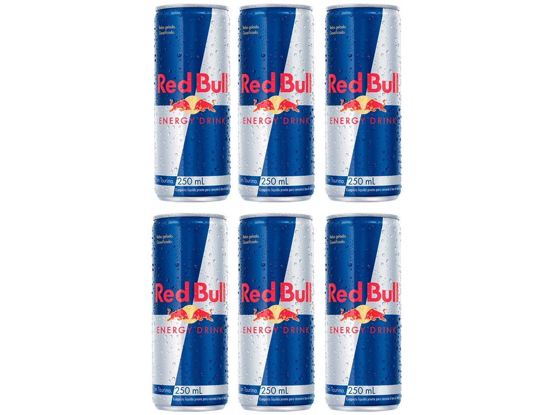 Bebida Energética Red Bull Energy Drink 250ml - 6 Unidades