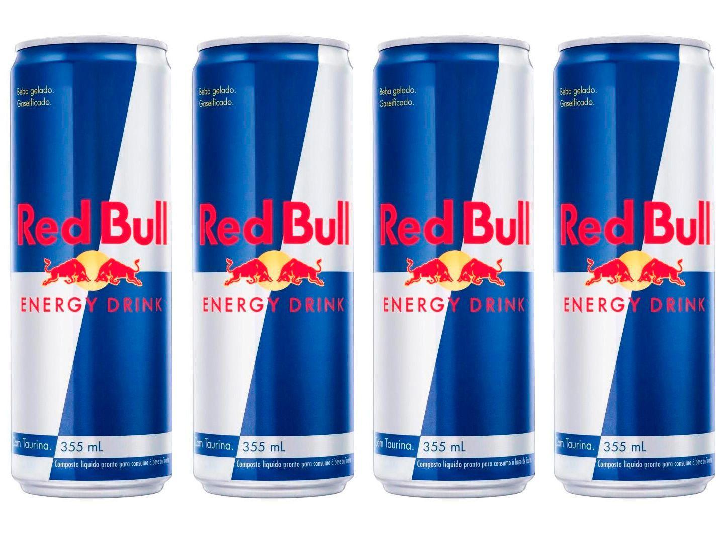 Bebida Energética Red Bull Energy Drink 355ml - 4 Unidades