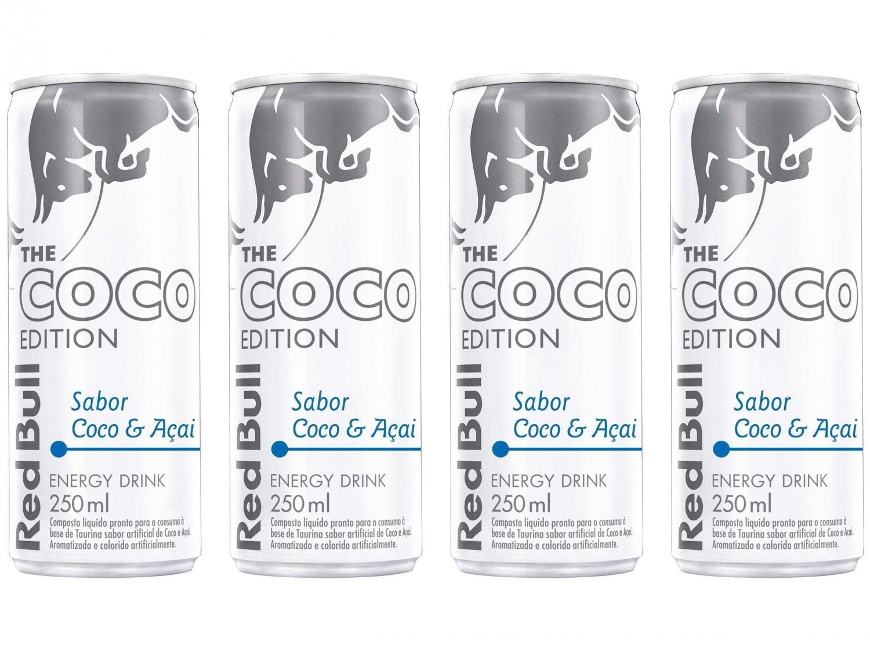 Bebida Energética Red Bull Coco Edition - Coco e Açaí 250ml 4 Unidades