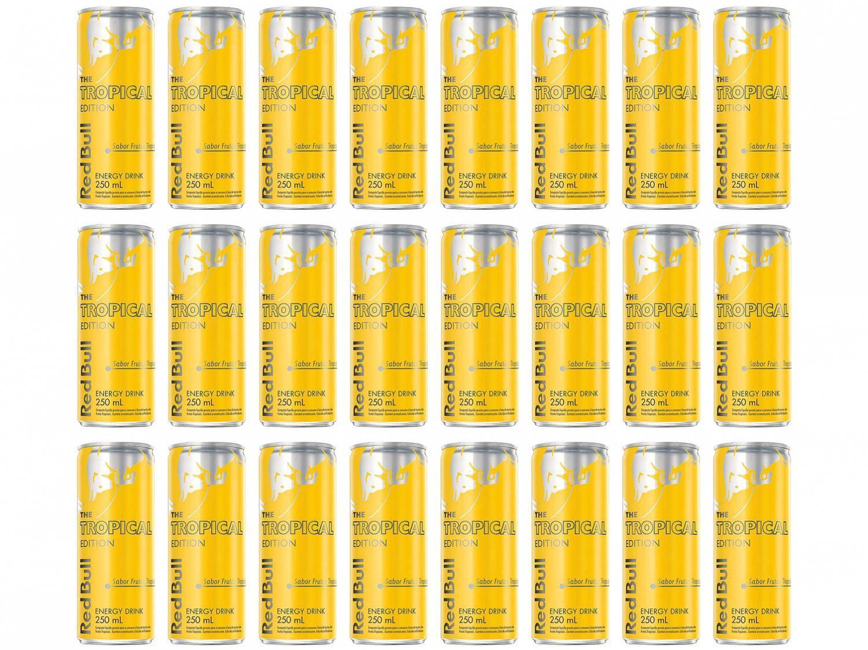 Bebida Energética Red Bull Tropical Edition - Frutas Tropicais 250ml 24 Unidades