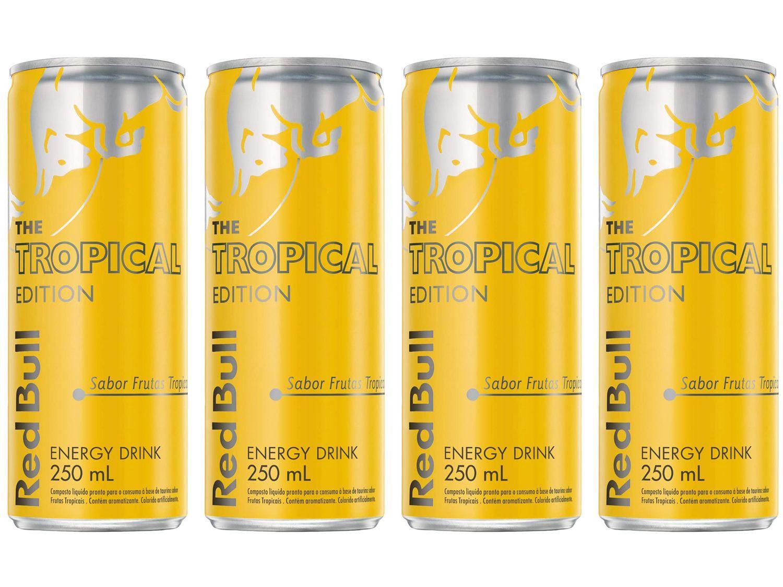 Bebida Energética Red Bull Tropical Edition - Frutas Tropicais 250ml 4 Unidades
